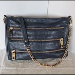 Rebecca Minkoff 3 zip shoulder purse, mid-size